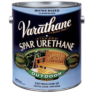 Varathane 250241H 1 Quart Satin Water Based Outdoor Diamond Wood Finish