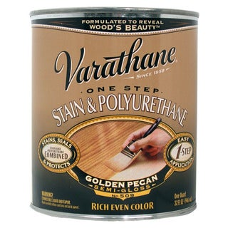 Varathane 225243H 1 Quart Golden Pecan 1 Step Stain