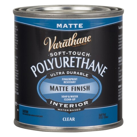 Varathane 262075 Half Pint Clear Matte Finish Soft Touch Polyurethane