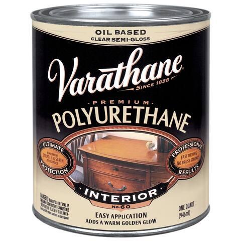 Varathane 6041H 1 Qt Semi-Gloss Varathane Classic Clear Diamond Wd Finish