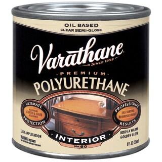 "Varathane 6061H 1/2"" Pint Semi-Gloss Classic Clear Diamond Wood Finish"
