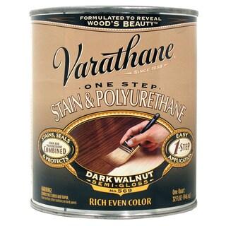 Varathane 225250H 1 Quart Dark Walnut 1 Step Stain