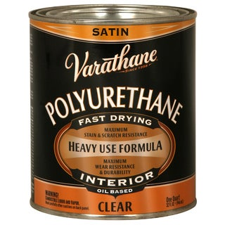 Varathane 9141H 1 Quart Satin Varathane Classic Clear Diamond Wood Finish