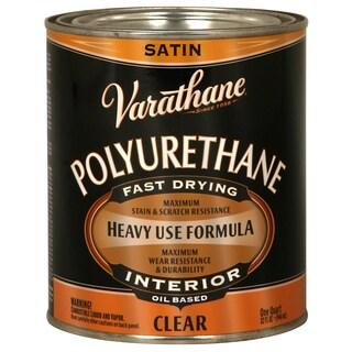 Varathane 9141H 1 Quart Satin Varathane Classic Clear Diamond Wood Finish