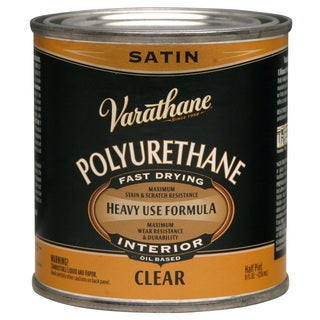 Varathane 9161H 1/2 Pt Satin Varathane Classic Clr Diamond Wood Finish