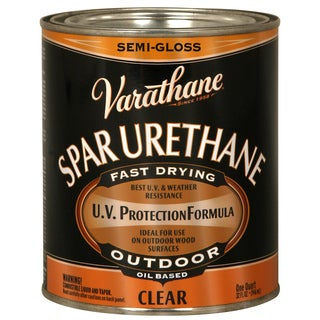 Varathane 9441H 1 Quart Semi Gloss Outdoor Diamond Oil Based Wood Finish