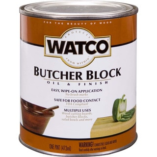 Watco 241758 1 Pint Butcher Block Oil & Finish