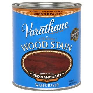 Varathane 247680 1 Quart Red Mahogany Water Based Premium Wood Stain