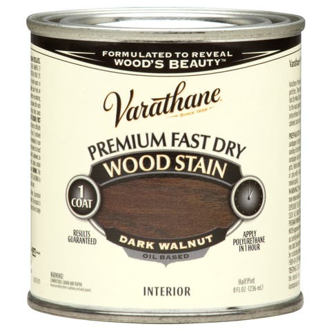 Varathane 262025 1/2 Pint Dark Walnut Fast Dry Wood Stain