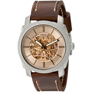 Fossil Men's ME3115 'Machine' Automatic Brown Leather Watch