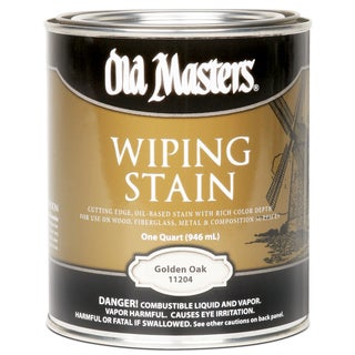 Old Masters 11204 1 Quart Golden Oak Wiping Stain