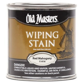 Old Masters 11416 1/2 Pint Red Mahogany Wiping Stain