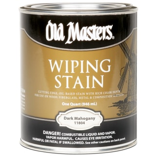 Old Masters 11804 1 Quart Dark Mahogany Wiping Stain