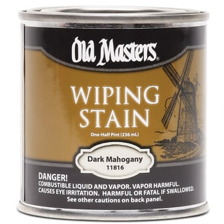 Old Masters 11816 1/2 Pint Dark Mahogany Wiping Stain