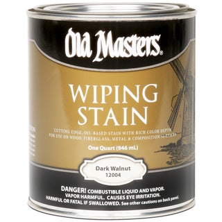 Old Masters 12004 1 Quart Dark Walnut Wiping Stain