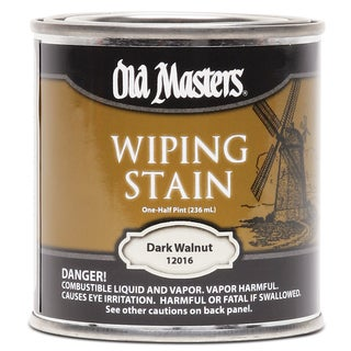 Old Masters 12016 1/2 Pint Dark Walnut Wiping Stain