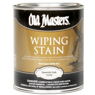 Old Masters 12204 1 Quart Spanish Oak Wiping Stain