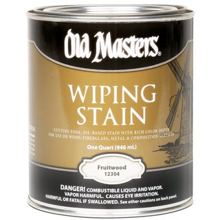 Old Masters 12304 1 Quart Fruitwood Wiping Stain