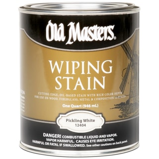 Old Masters 12404 1 Quart Pickling White Wiping Stain