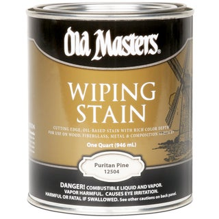 Old Masters 12504 1 Quart Puritan Pine Wiping Stain