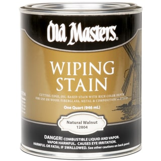 Old Masters 12804 1 Quart Natural Walnut Wiping Stain