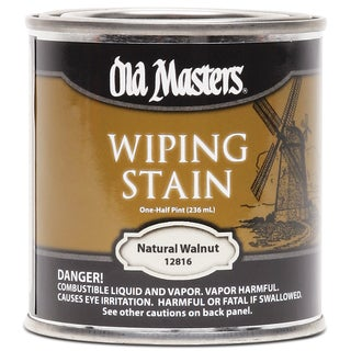 Old Masters 12816 1/2 Pint Natural Walnut Wiping Stain