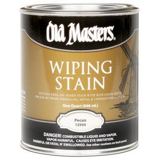 Old Masters 12904 1 Quart Pecan Wiping Stain