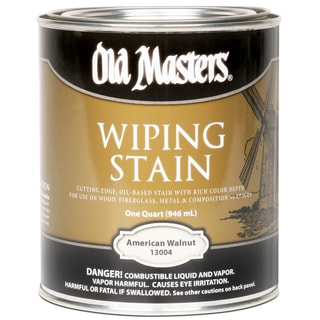 Old Masters 13004 1 Quart American Walnut Wiping Stain