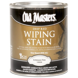 Old Masters 14904 1 Quart Crimson Fire Wiping Stain