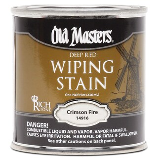 Old Masters 14916 1/2 Pint Crimson Fire Wiping Stain
