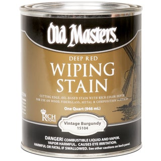Old Masters 15104 1 Quart Deep Red Vintage Burgundy Wiping Stain