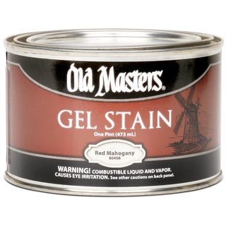 Old Masters 80408 1 Pint Red Mahogany Gel Stain