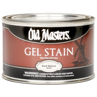 Old Masters 80708 1 Pint Dark Walnut Gel Stain