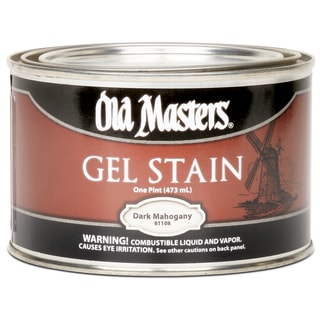 Old Masters 81108 1 Pint Dark Mahogany Gel Stain
