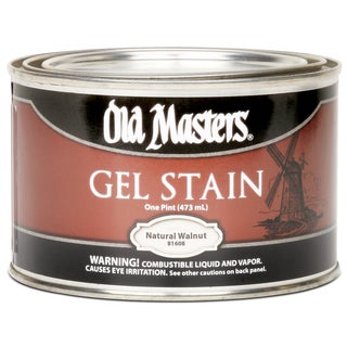 Old Masters 81608 1 Pint Natural Walnut Gel Stain