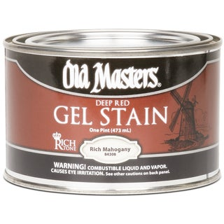 Old Masters 84308 1 Pint Rich Mahogany Gel Stain