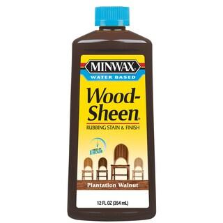 Minwax 30438 12 Oz Plantation Walnut Water Based WoodSheen Wood Stain