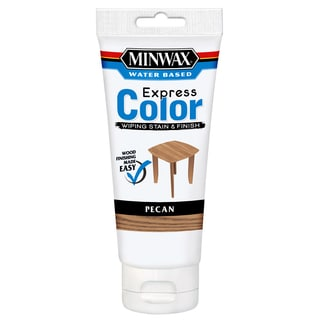 Minwax 308024444 6 Oz Pecan Water Based Express Color Wiping Stain & Finish