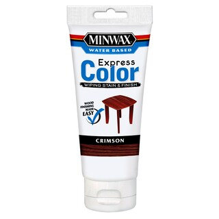 Minwax 308054444 6 Oz Crimson Water Based Express Color Wiping Stain & Finish