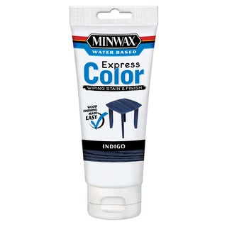 Minwax 308074444 6 Oz Indigo Water Based Express Color Wiping Stain & Finish