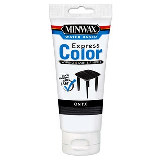 Minwax 308084444 6 Oz Onyx Water Based Express Color Wiping Stain & Finish