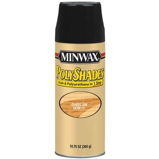 Minwax 31370 10.75 Oz Classic Oak Satin Stain & Polyurethane Spray