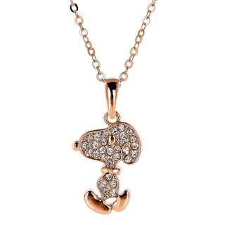 Snoopy Inspired Double Sided Swarovski Element Necklace