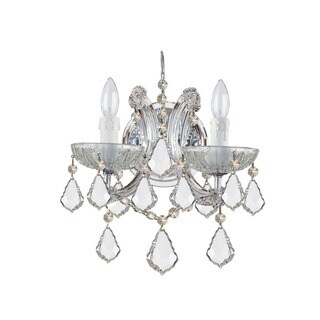 Crystorama Maria Theresa Collection 2-light Polished Chrome/Swarovski Spectra Crystal Wall Sconce