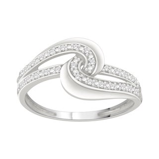Trillion Designs S925 Sterling Silver 1/20 ct TDW Natural Diamond Ring (H-I, I2)