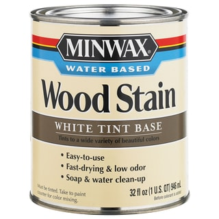 Minwax 61806 1 Quart White Tint Base Water-Based Wood Stains