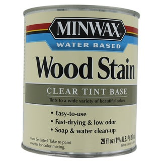 Minwax 61807 1 Quart Clear Base Water-Based Wood Stains