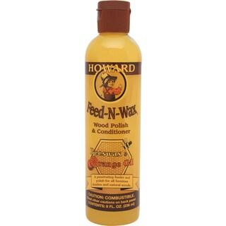 Howard FW0008 8 Oz Feed-N-Wax Wood Polish & Conditioner