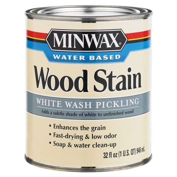 White Wash Gel Stain: Minwax 61860 1 Quart White Wash Pickling Stain