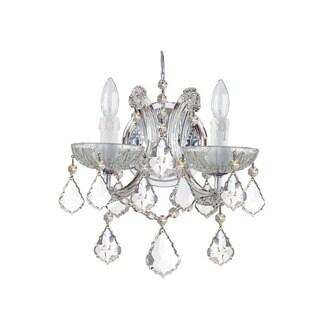 Crystorama Maria Theresa Collection 2-light Polished Chrome/Crystal Wall Sconce